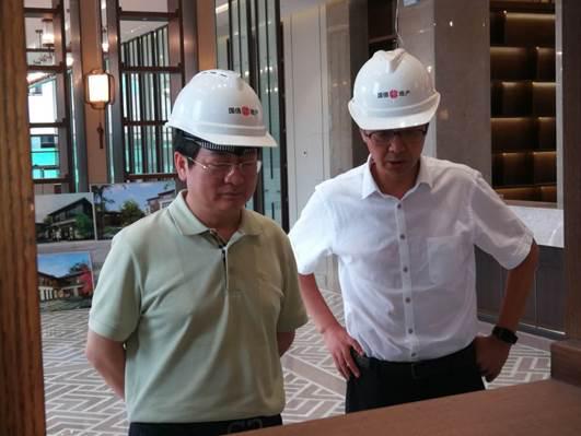 集团公司党委书记、董事长张炯玮调研检查国信西山城郊森林公园和国信山水间项目