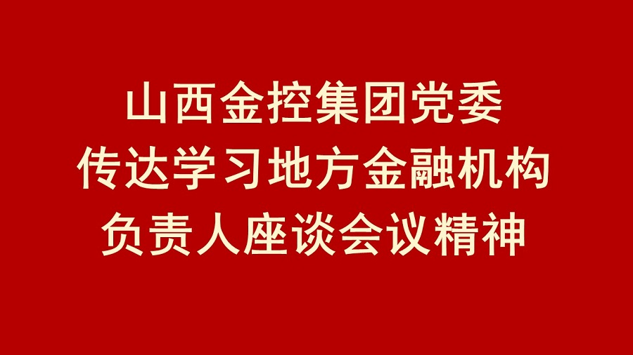 山西金控集团党委传达学习地方金融机构负责人座谈会议精神