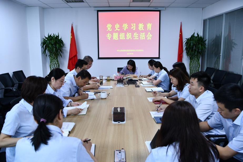 召开党史学习教育专题组织生活会
